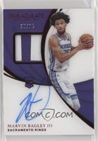 Rookie Patch Autographs - Marvin Bagley III #/25