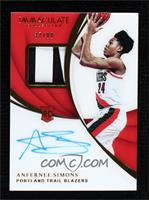 Rookie Patch Autographs - Anfernee Simons #/99