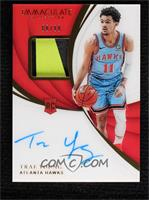 Rookie Patch Autographs - Trae Young #66/99