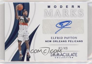 2018-19 Panini Immaculate Collection - Modern Marks - Blue #MM-EPT - Elfrid Payton /49