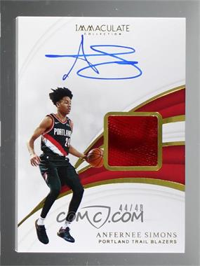 2018-19 Panini Immaculate Collection - Sneaker Swatch Signatures #SN-ASM - Anfernee Simons /48