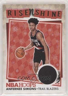 2018-19 Panini NBA Hoops - Rise N Shine Memorabilia - Winter #RNS-AS - Anfernee Simons