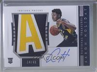 Rookie Patch Autographs Horizontal - Aaron Holiday /49