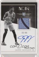 Rookie Patch Autograph Black and White - Jaren Jackson Jr. #/99