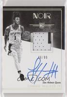 Rookie Patch Autograph Black and White - Lonnie Walker IV #/99