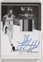 Rookie Patch Autographs Black and Whit - Lonnie Walker IV /99