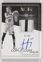 Rookie Patch Autograph Black and White - Dzanan Musa [EX to NM] #/99