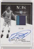 Rookie Patch Autograph Black and White - Devonte' Graham #/99