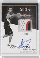 Rookie Patch Autograph Black and White - Gary Trent Jr. #/99