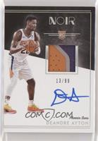 Rookie Patch Autographs Color - Deandre Ayton [Noted] #/99