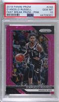 D'Angelo Russell [PSA 10 GEM MT] #/50