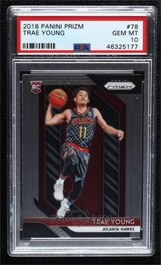 2018-19 Panini Prizm - [Base] #78 - Trae Young [PSA 10 GEM MT]