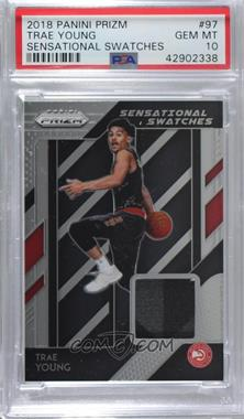 2018-19 Panini Prizm - Sensational Swatches #97 - Trae Young [PSA10GEMMT]