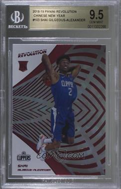 2018-19 Panini Revolution - [Base] - Chinese New Year #103 - Shai Gilgeous-Alexander [BGS 9.5 GEM MINT]