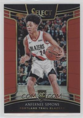 2018-19 Panini Select - [Base] - Red Prizm #39 - Concourse - Anfernee Simons /199