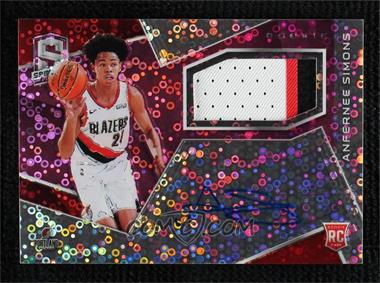 2018-19 Panini Spectra - [Base] - Neon Pink #117 - Rookie Jersey Autographs - Anfernee Simons /25