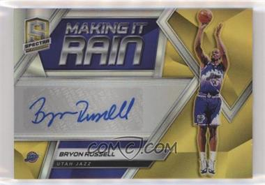 2018-19 Panini Spectra - Making it Rain Autographs - Gold #MR-BRS - Bryon Russell /10