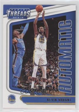 2018-19 Panini Threads - Automatic #6 - Kevin Durant