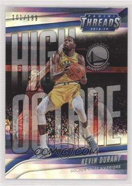 2018-19 Panini Threads - High Octane - Premium #4 - Kevin Durant /199 [EX to NM]