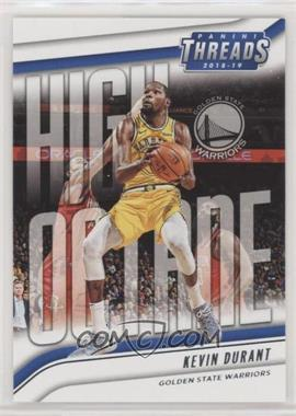 2018-19 Panini Threads - High Octane #4 - Kevin Durant