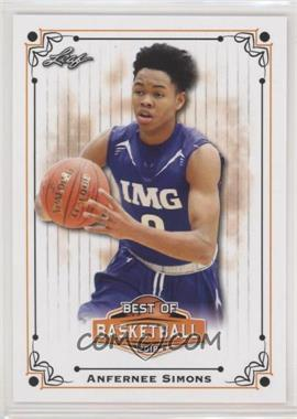 2018 Leaf Best of Basketball - [Base] #BB-03 - Anfernee Simons