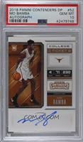 RPS College Ticket - Mo Bamba [PSA 10 GEM MT]