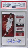 College Ticket - Jacob Evans III [PSA 10 GEM MT]