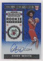 Rookie Ticket Variation - Coby White #/20