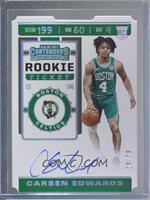 Rookie Ticket - Carsen Edwards #29/29