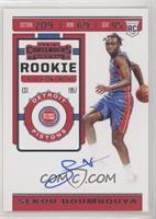 Rookie Ticket Photo Variation - Sekou Doumbouya