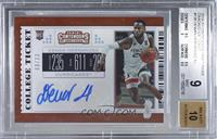 College Ticket - Dewan Hernandez [BGS 9 MINT] #/23