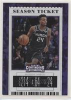 Season Ticket Variation - Buddy Hield (Kings Jersey) #/23