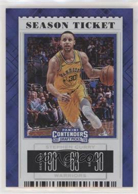 2019-20 Panini Contenders Draft Picks - [Base] - Diamond Ticket #48.2 - Season Ticket Variation - Stephen Curry (Warriors Jersey) /15