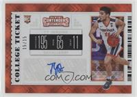 College Ticket - Ty Jerome (White Jersey) #/15