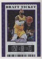 Season Ticket Variation - LeBron James (Gold Jersey) #/75