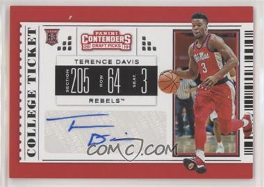 2019-20 Panini Contenders Draft Picks - [Base] #121 - College Ticket - Terence Davis