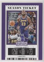 Season Ticket - LeBron James (Purple Jersey)