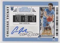 College Ticket - Cameron Johnson (Carolina Blue Jersey)
