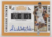 College Ticket - Admiral Schofield