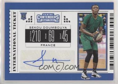2019-20 Panini Contenders Draft Picks - International Tickets #1 - Sekou Doumbouya