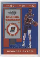 Season Ticket - Deandre Ayton #/99
