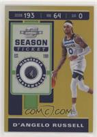 Season Ticket - D'Angelo Russell #/10