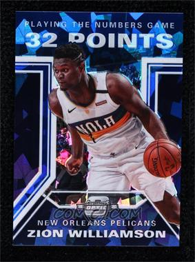 2019-20 Panini Contenders Optic - Playing the Numbers Game - Blue Cracked Ice #28 - Zion Williamson