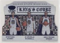 D'Angelo Russell, Draymond Green, Stephen Curry #/75