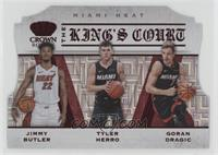 Goran Dragic, Jimmy Butler, Tyler Herro #/49