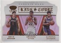 Cameron Johnson, Deandre Ayton, Devin Booker #/99