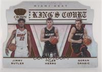 Goran Dragic, Jimmy Butler, Tyler Herro #/99