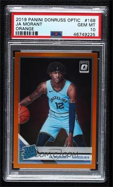 2019-20 Panini Donruss Optic - [Base] - Orange Prizm #168 - Rated Rookies - Ja Morant /199 [PSA 10 GEM MT]