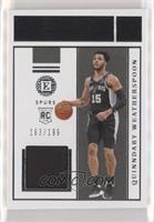 Quinndary Weatherspoon #/199