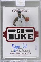 Zion Williamson [Uncirculated] #/20